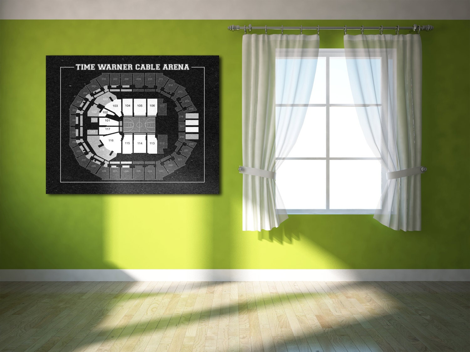 Vintage print of time warner cable arena seating chart on for 12x15 calculator