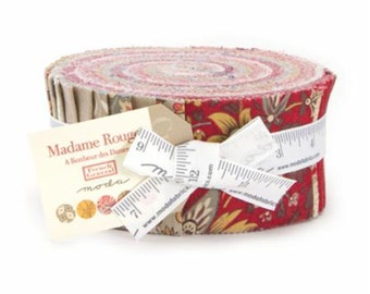 Madame Rouge Jelly Roll, 13770JR by French General, Limited Release Sample Spree, Moda Fabrics