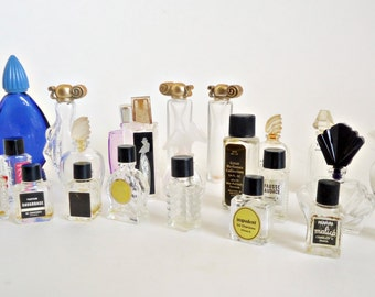 25 Vintage Miniature Perfume Bottle Collection
