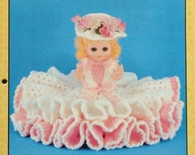 """20%OFF Td Creations MARY ANN 13"""" Bed Doll - Crochet Doll Dress Clothes Clothing Pattern"""