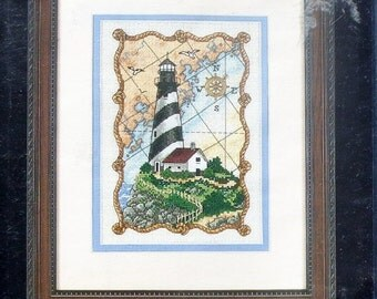 20%OFF Dimensions The Gold Collection Petites MARINER'S Light Lighthouse By Todd Trainer - Counted Cross Stitch Kit
