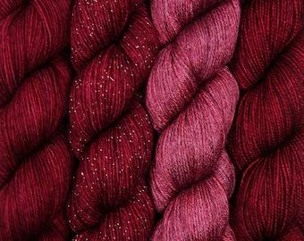 hand dyed yarn DRAMA QUEEN pick your base - sw merino bfl silk nylon stellina fingering dk