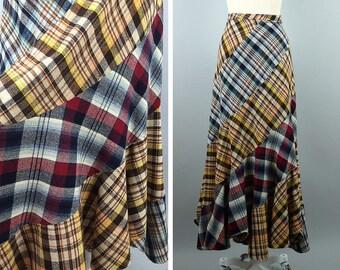 1970s Plaid Maxi Skirt --> Plaid Skirt --> Vintage Maxi --> Plaid Patchwork Skirt --> Long Plaid Skirt --> Wool Skirt --> Plaid On Plaid