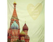 Moscow Wall Tapestry. From Russia With Love. Wall Hanging Fabric. Dorm Décor. Decorative Wall Décor. Wall Hanging. Travel Wall Tapestry