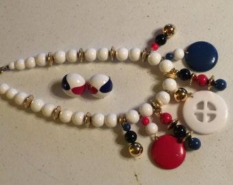 Trifari Necklace & Earring Set Vintage Lot 468