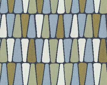 Scaled Geometric Upholstery Fabric - Refreshing Print for Transitional to Modern Decor. Color: Terrazzo Shore - Per Yard