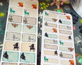 Harry Potter Inspired Bestiary Themed Half and Quarter Box Stickers