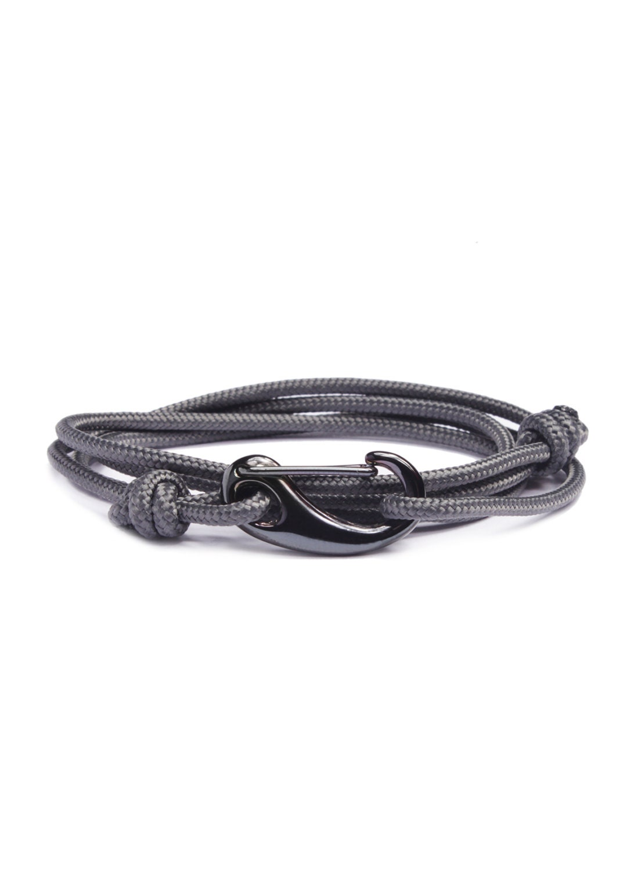 seil armband f r m nner haken wrap around armband grau. Black Bedroom Furniture Sets. Home Design Ideas