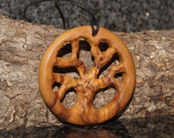 Olive Wood Necklace, wood jewelry, Tree of Life