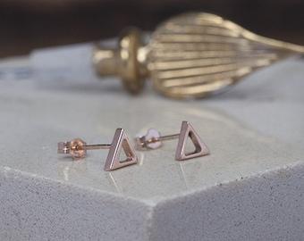Rose Gold Geo Earrings