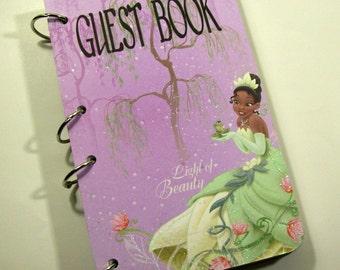 Princess Guest Book, Princess Tiana Party, Girls First Birthday, Princess Party Book, Princess Baby Shower, Princess Sign in Book