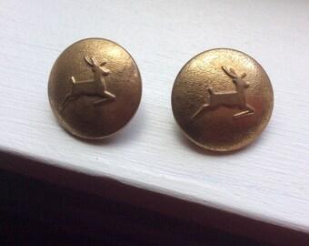 Vintage Deer Buttons (set of 2)