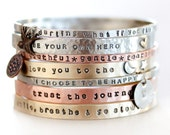 Gift for Her / Gift / Graduation Gift / Unique Gift / Mantra Bangle / Inspirational / Motivational Gift / For Her / Positive Jewelry