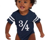 Game Day Birthday Onesie - half birthday - almost one Birthday Shirt - Fan Football Tee - Birthday Jersey
