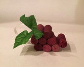 Red/Maroon Grapes Cork Ornament
