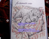 fortunate one ( a best friend's song ) labradoodle cards/ journey cards/sentimental cards/unique empathy condolence cards