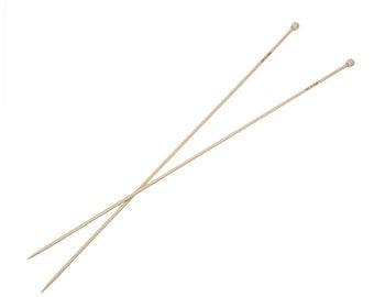 "Pair of Bamboo Knitting Needles, US Size 2, 2.75mm, (UK Size 12) 13"" long, knt0132"