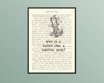 MAD HATTER Quote Print