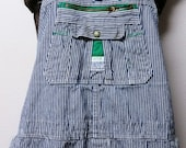 """RESERVED For Bonita*************Liberty  Blue and white Striped  Denim Overalls Conductor Railroad up to 48"""" waist"""