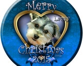Morkie Puppy Personalized Christmas Ornament