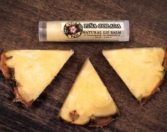 Lip Balm Natural PIÑA COLADA with Organic Coconut and Pineapple .15 oz stocking stuffer