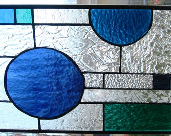 Textured abstract glass panel