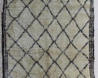 Beni Ourain BO27655   Beniourain, Beniouarain, beni ouarain  vintage berber rug  morocco