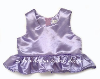 satin mermaid peplum top shirt mermaid party shirt outfit mermaid top baby toddler girl lavender peach light pink