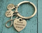 gift for men, husband birthday gift, for wife, infinity keychain, anniversary gift for boyfriend, personalized gift for him wife to husband