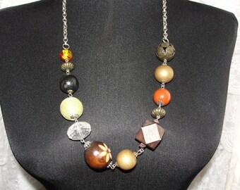 Unique vintage beaded necklace