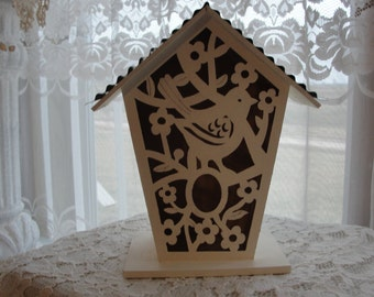 Bird cage shabby chic, tin roof, lattice look,cottage chic