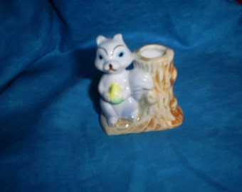 Vintage Squirrel Toothpick Holder.