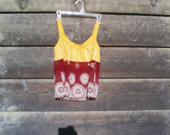 SALE  Upcycled, recycled, repurposed, tank, T shirt and sheer bottom. Was 24.00.
