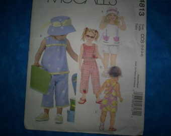 McCall 4813 Size 1-2-3-4 Girls Summer Outfits.