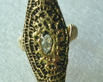 Custom Gold Statement Wire Wrapped Ring - Custom Size