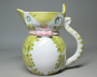 Cat pitcher from Italy , mid century modern , meow