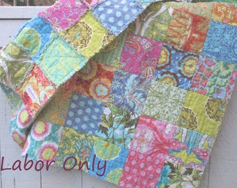 labor only - throw rag quilt - CUSTOM