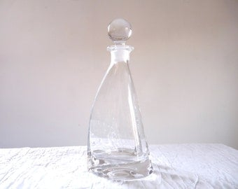 french vintage carafe - french glass carafe - french glass - french vintage glass