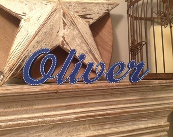 Personalised Wooden Name Sign - For Doors, Walls, Etc - price is per letter