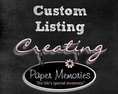 Custom listing for Nick E.