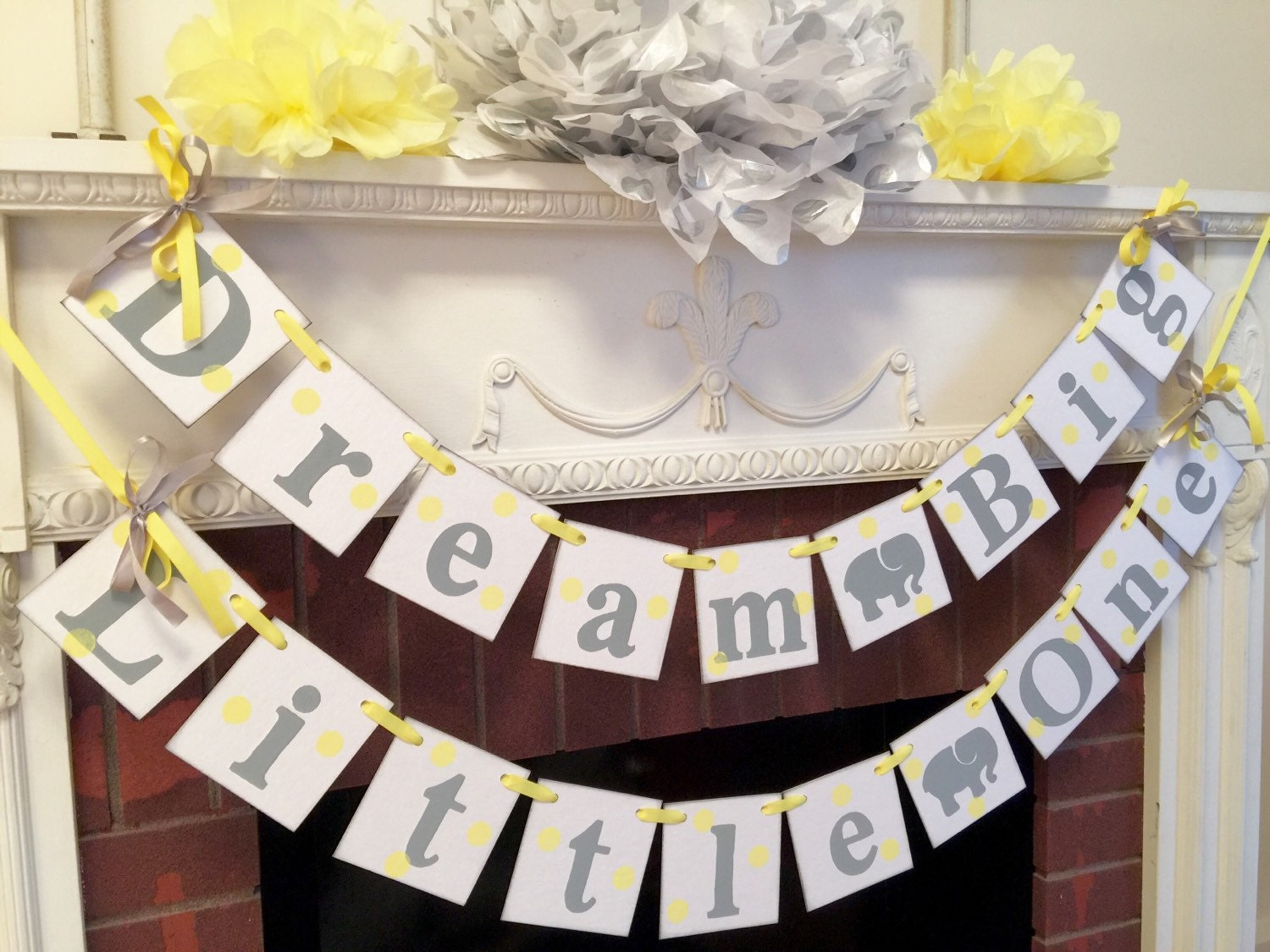 Yellow And Gray Baby Shower Decorations Part   47: Elephant Baby Shower  Decorations   Dream