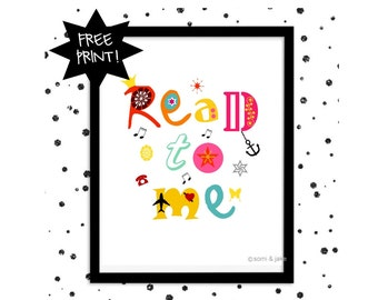 "FREE ""Read to Me"" Art Print ""8x10"" Free with Buy1 get 1 Free!"