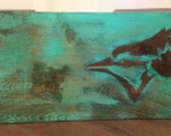 Blue Jays painting on cedar