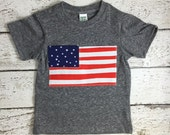American Flag Shirt Organic blend tee red white and blue USA shirt American Flag perfect for Fourth of July