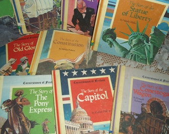 13 Vintage Cornerstone of Freedom book collection 60s 70s Homeschool History Americana