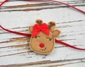 Baby Christmas Headband - Baby Reindeer headband - Girls Christmas Headband -Christmas Headband