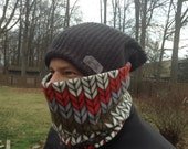 Men's Natives American, Running Scarf, cowl, gator, Ski Mask, snood, tube scarfe
