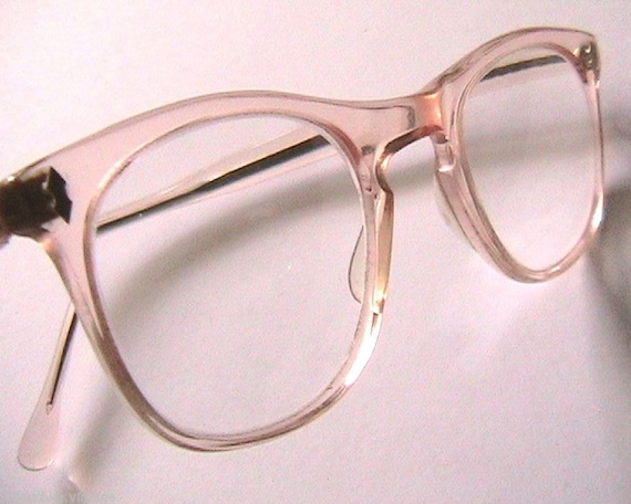 Glasses Frame In French : French 1940s Woman Eyeglasses Frame Clear Pink Frame MADE