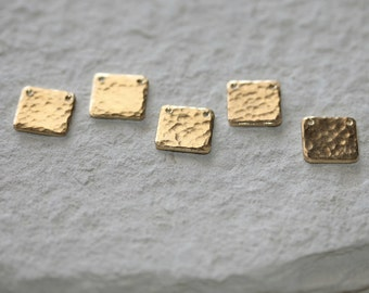 Minimalist Square Tag Pendant in Sterling Silver |  Vermeil | Gold Filled | Copper | Brass