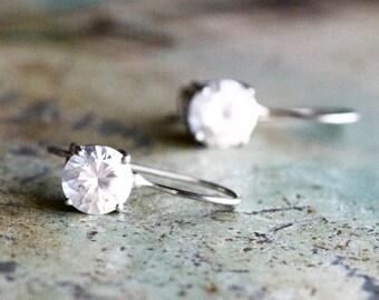 Crystal Boho Earrings - Sterling Silver Dangle Earrings
